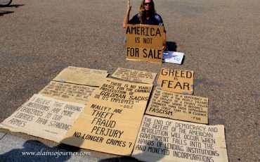 Protester White House