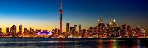 Toronto Center Island Night