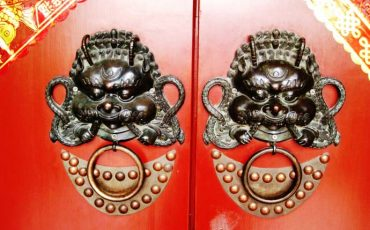 Chinese Doors Dragon Lion 5