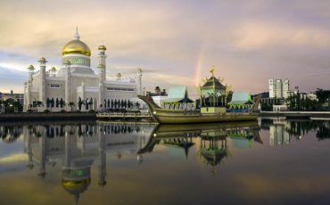 Things to do in Brunei SOAS Mosque at dusk