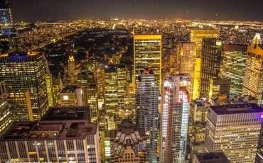 Rockefeller Center Night New York Skyline 10