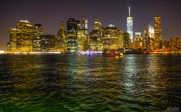 New York Skyline at Night from Brooklyn Heights 2
