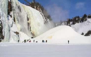 Frozen Montmorency Falls Quebec 28