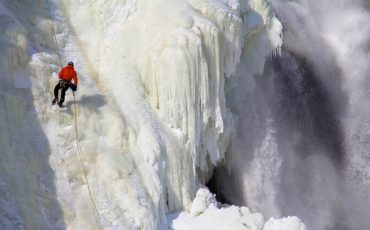 Montmorency Falls is frozen Quebec 29