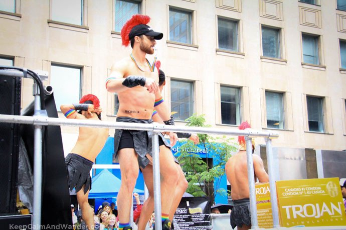 Trojan Warriors at Toronto Pride Parade 2015.