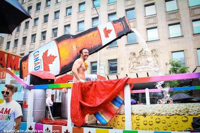 Molson Canadian at Toronto Pride Parade 2015.