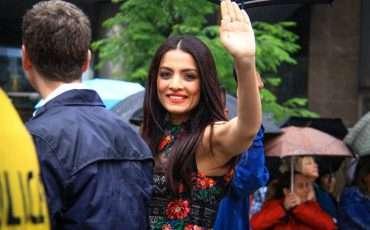 Celina Jaitly 2015 Toronto Pride Parade 3