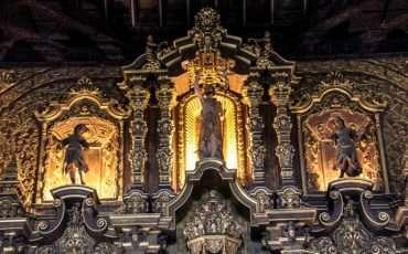 Remedios San Juan Bautista de los Remedios Cuba Church Gold Altar 2