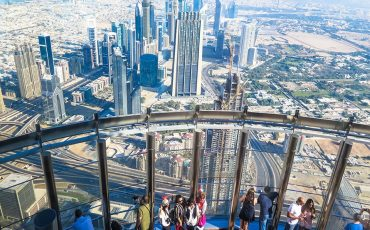 Top of Burj Khalifa Dubai Skyline 7