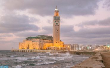 Night Hassan Mosque Casablanca 2