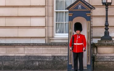 Guards at Buckingham Palace London 10
