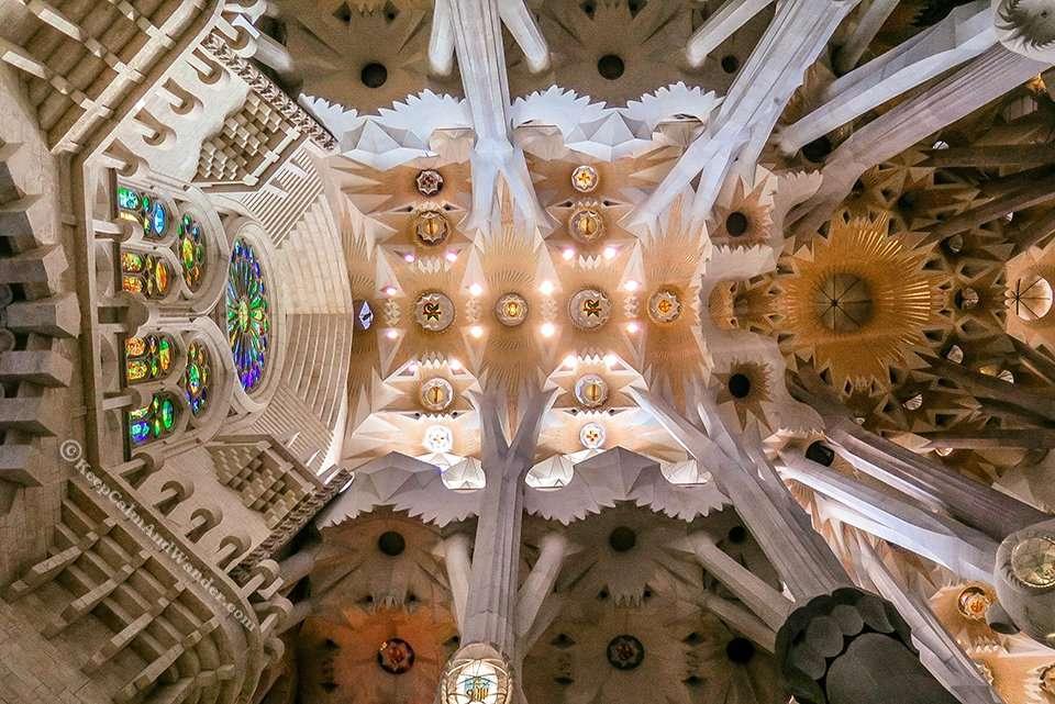 Inside Sagrada Familia Barcelona Spain 1
