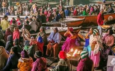 Ganga Aarti Dashashwamedh Ghat Varanasi India Ganges River 4