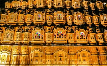 Hawa Mahal at Night Jaipur 3