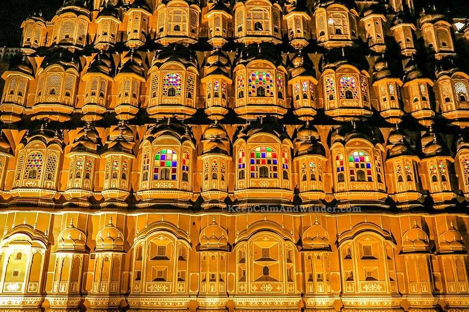 Hawa Mahal at Night Jaipur 3