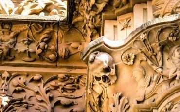 Salamanca University Entrance Spain Skull Frog 7