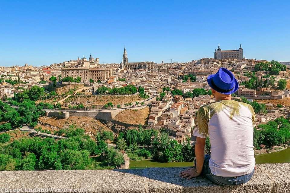 The Breathtaking Views of Toledo from Mirador del Valle (Spain).