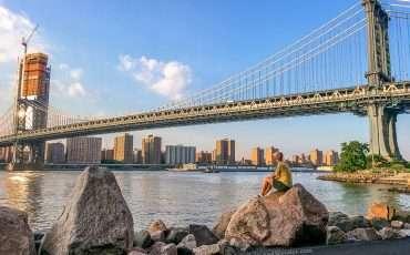 Manhattan Bridge New York Sunset USA 2
