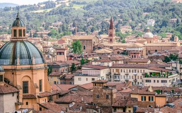 View from San Pietro Tower Bologna Italy 15