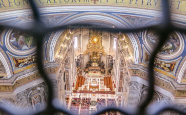 Climbing St Peter Basilica Dome Vatican Italy 8