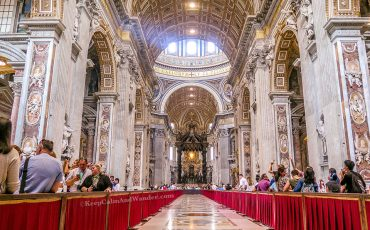 Inside St Peter Basilica Rome Italy 2