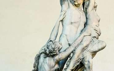 The Rape of Polyxena Statues at Piazza Signoria Florence Palazzo Vecchio