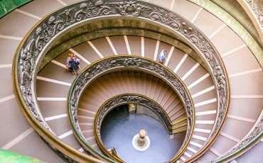 Vatican Spiral Staircase Bramante Rome Italy 2