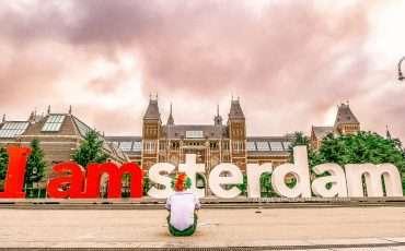 I amsterdam sign statue Rijksmuseum Netherlands 3