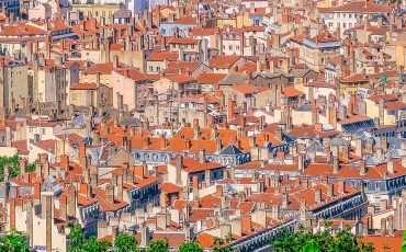 Lyon Panorama from Basilique Notre Dame de Fourviere Lyon France 7