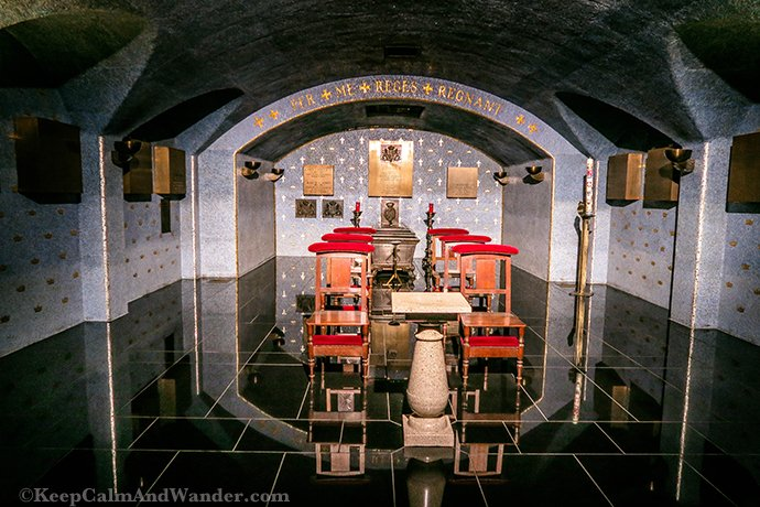 Ducal Family Crypt Inside the Notre Dame Cathedral in Luxembourg.
