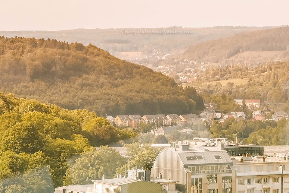 The Views of Luxembourg from Sky City Liner.