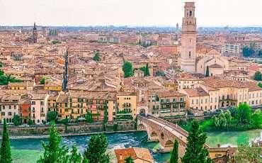 Panorama Verona – Piazzale Castel San Pietro Italy 2