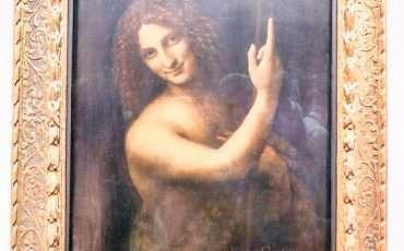 St John the Baptist Leonardo da Vinci 3 Louvre Museum Paris France