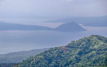 Taal Volcano View from the Unfinished Marcos Mansion Philippines 4