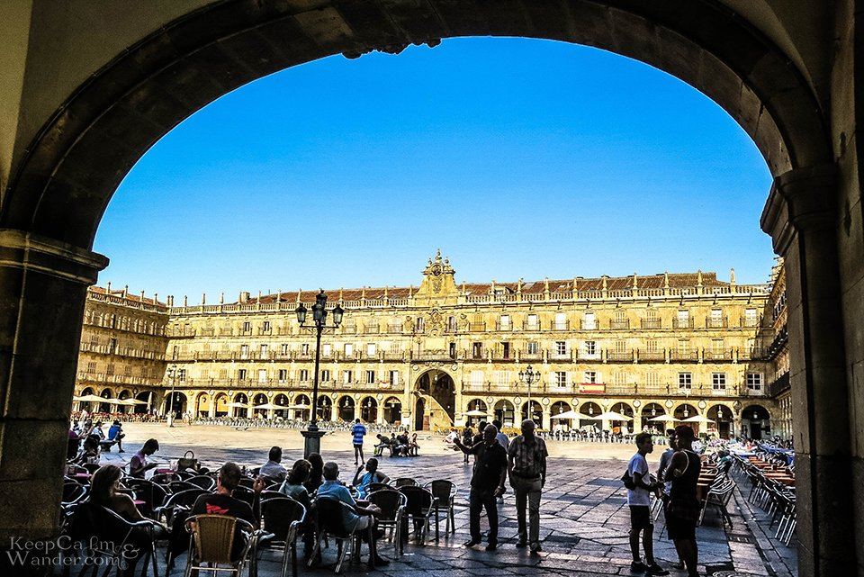 The Plaza Mayor in Salamanca Has No Place For A Dictator (Spain).