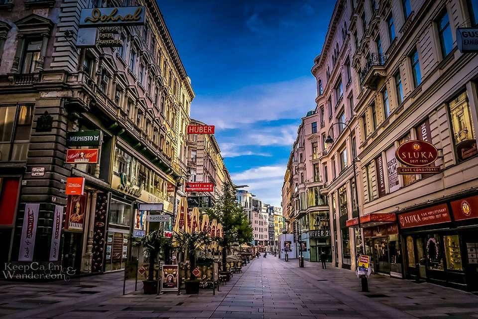 Pedestrian Lane in Vienna / My Own Walking Tour of Vienna
