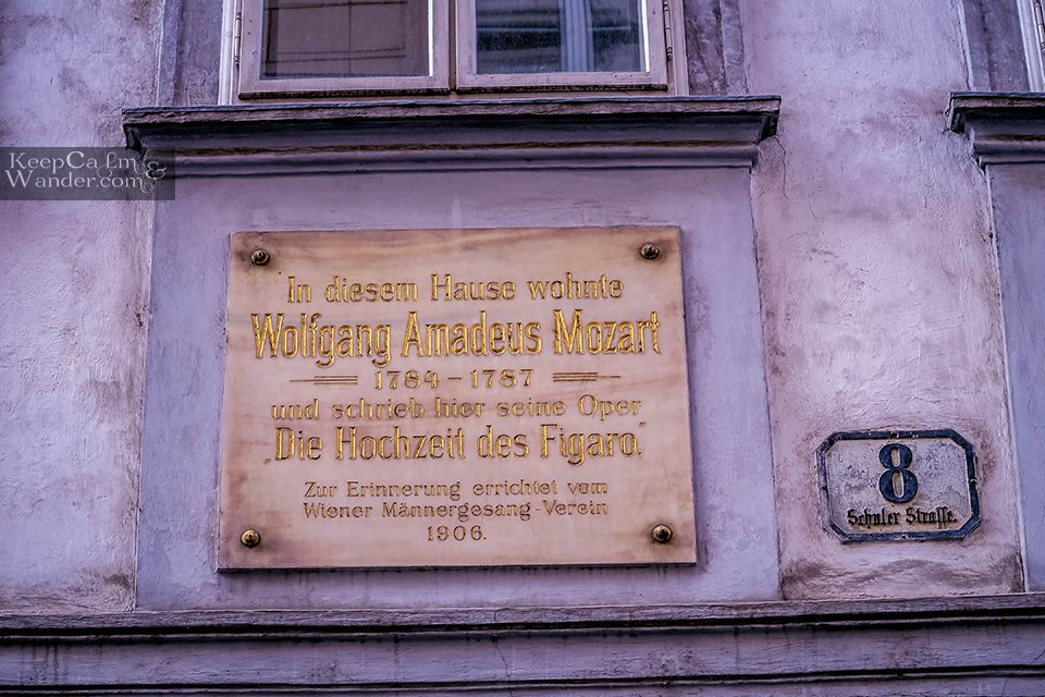 My Own Walking Tour of Vienna - Mozart House