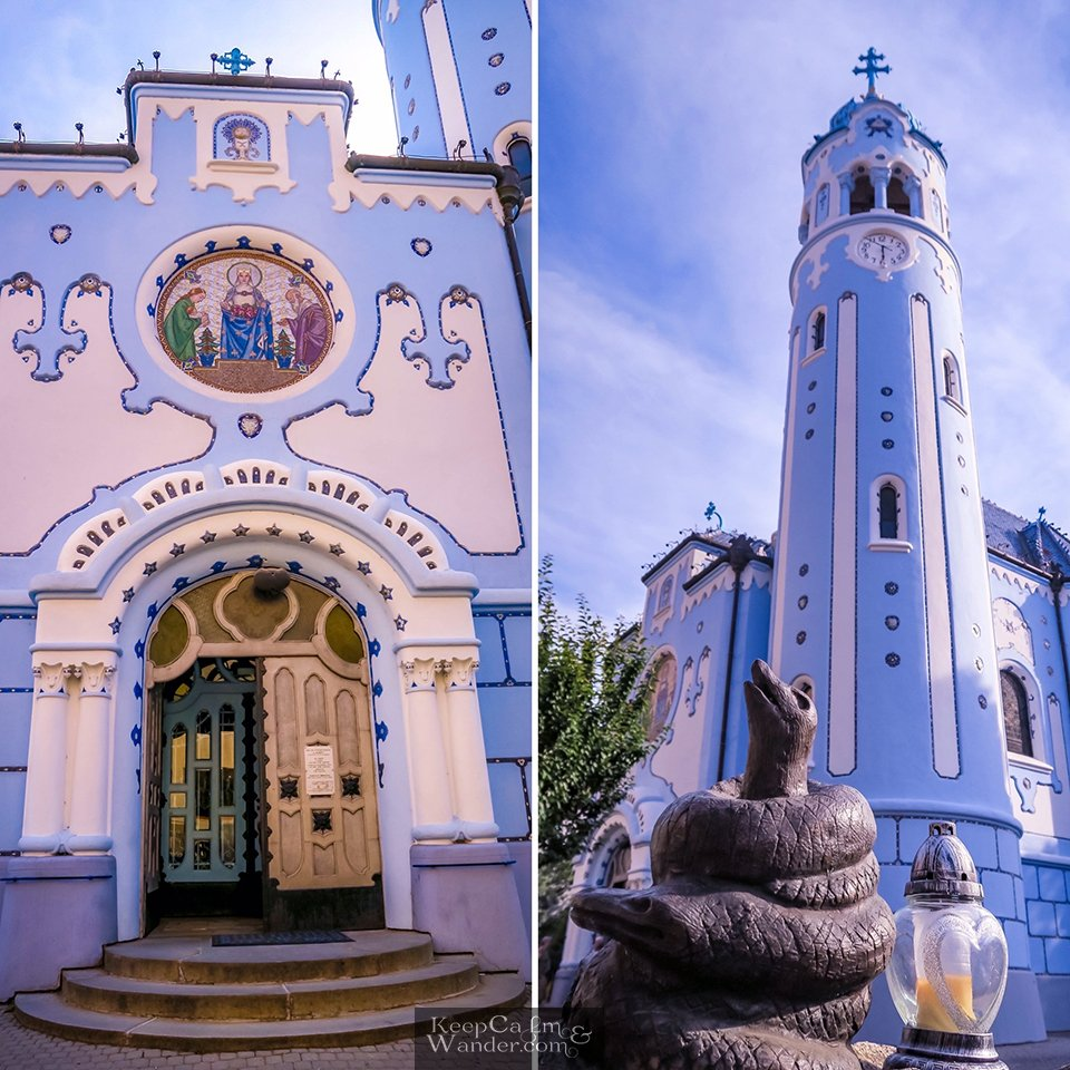 The Blue Church in Bratislava is also known as St. Elizabeth of Hungary Church.