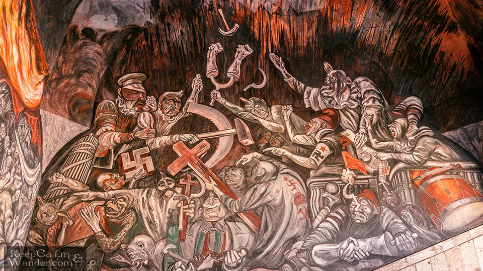 """The People and Its Leaders"" is painted by José Clemente Orozco."
