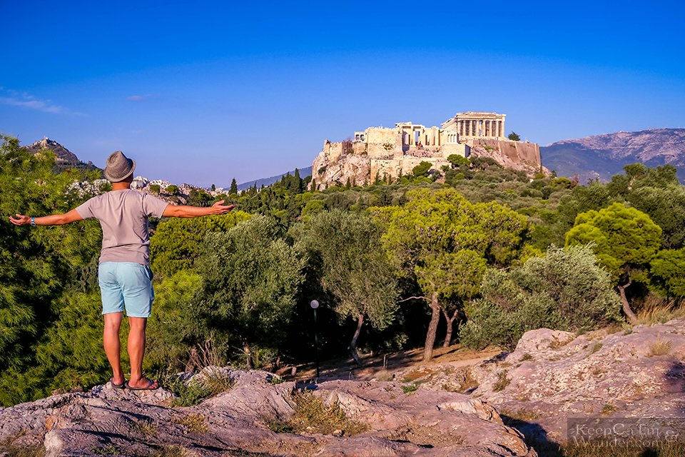 Hotel in Athens With a View of the Acropolis Parthenon