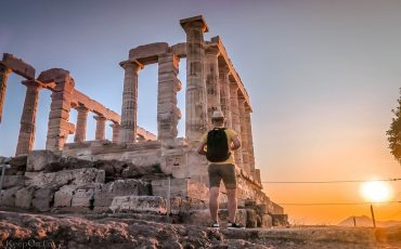 Temple of Poseidon Sunset Athens Greece 2