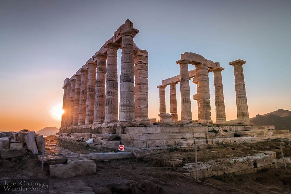 Take a bus from Athens to Sounion.
