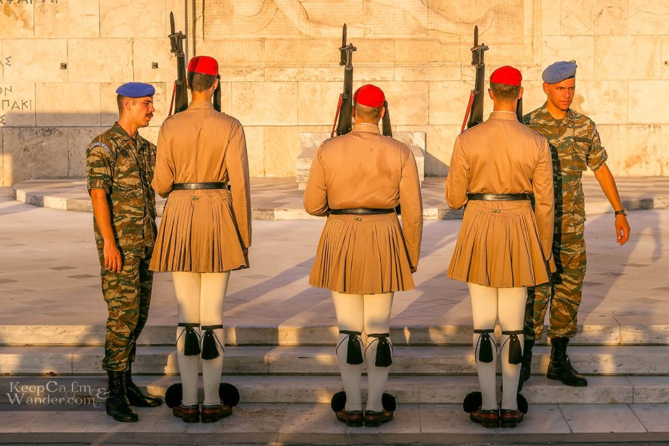 Changing of the Guards at the Greek Parliament in Athens