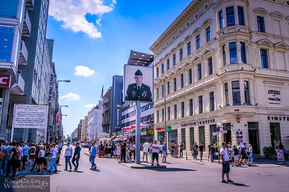Portrait soldier Checkpoint Charlie