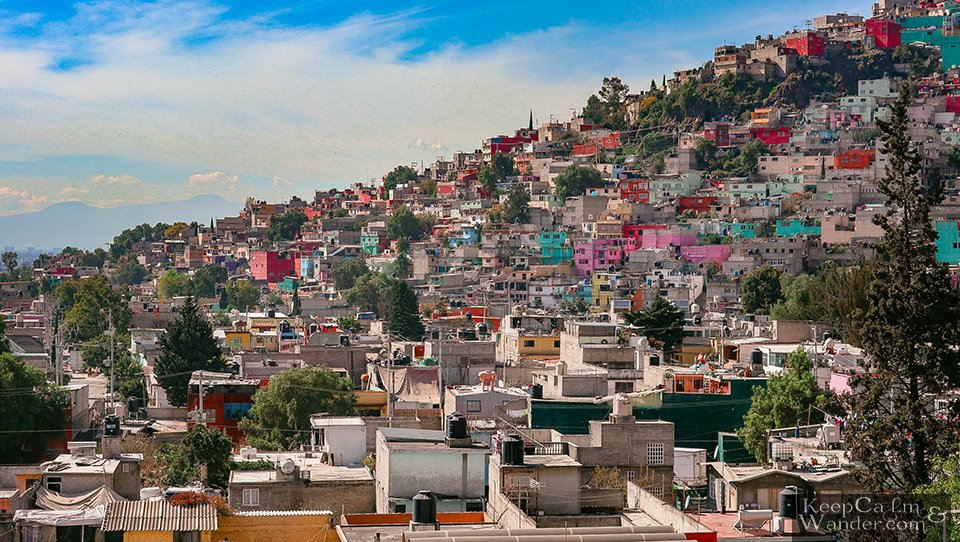 Colourful houses Mexico City