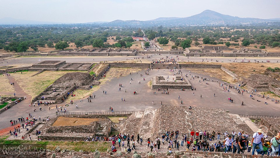 View from the top of the Pyramid of the Sun Mexico Travel
