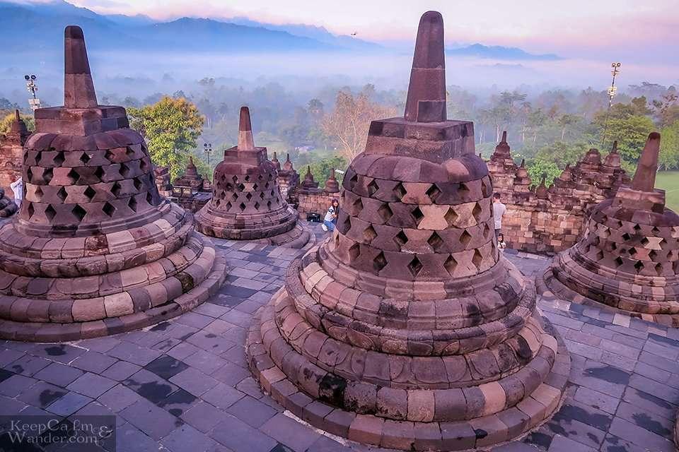 Borobudur Temple is the World's Largest Buddhist Temple (Yogyakarta, Indonesia).