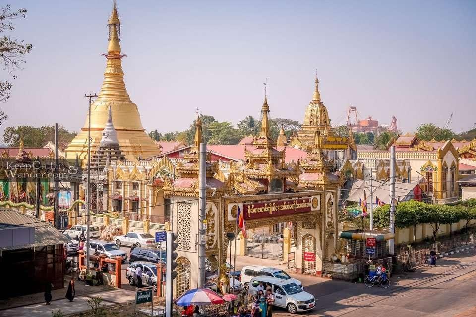 At Botataung Pagoda, You Will Find Buddha's Hair Yangon Myanmar