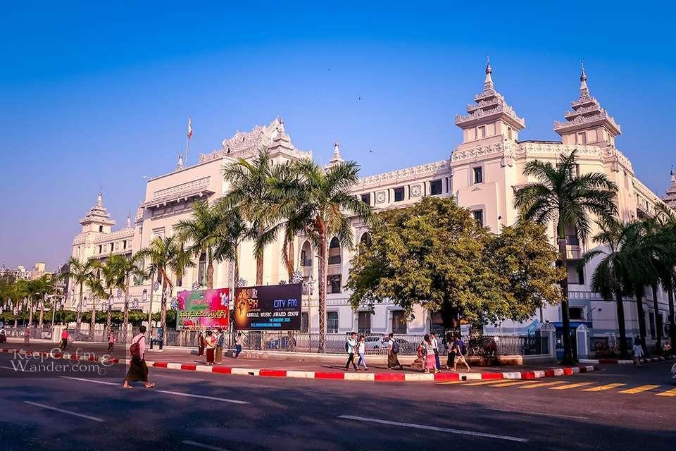 Yangon City Hall Myanmar
