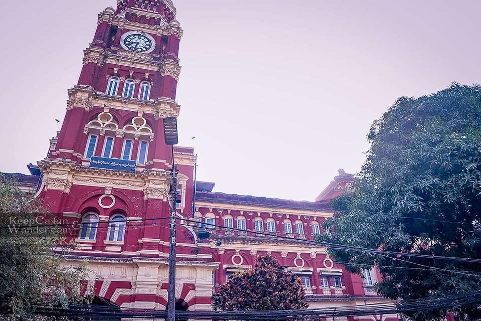Cultural heritage building Yangon Myanmar